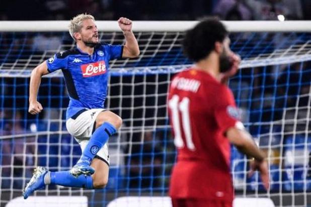 Les Belges à l'étranger - Naples bat Liverpool avec un but de Mertens, Dortmund et ses Belges gaspillent
