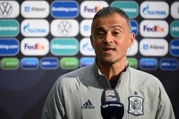 """Nations League - Luis Enrique predikt """"nederigheid"""" en """"kalmte"""" in aanloop naar finale tegen Frankrijk"""