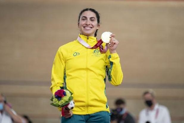 La première médaille d'or à Tokyo pour une Australienne en paracyclisme sur piste