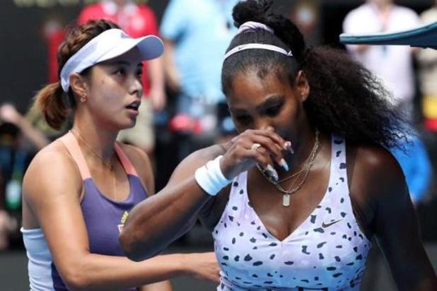 Australian Open - Serena Williams verliest van Chinese Wang