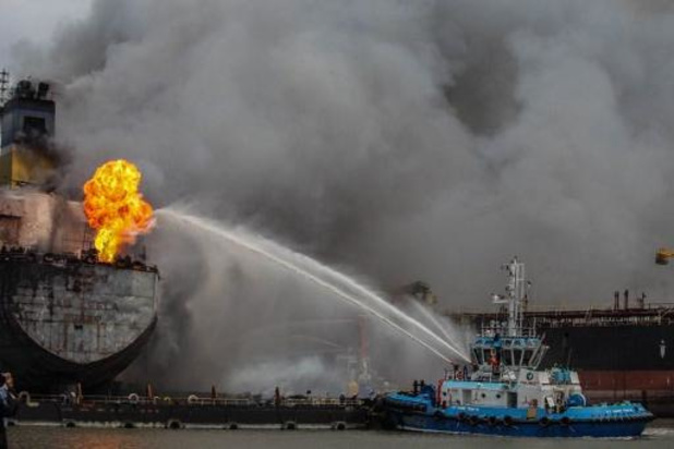 22 gewonden bij brand in olietanker in Indonesië
