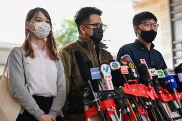 Joshua Wong et deux autres militants de la contestation à Hong Kong placés en détention provisoire