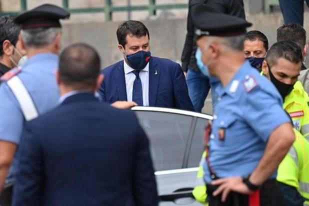 Italiaanse oppositieleider Salvini voor rechter verschenen wegens vasthouden migranten