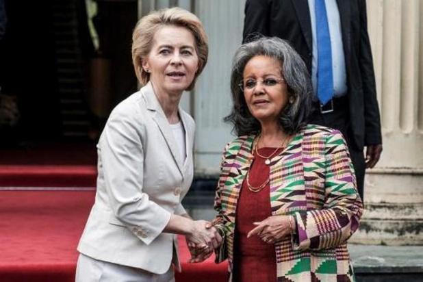 """Ursula Von der Leyen voit """"du potentiel pour une plus grande coopération"""" avec l'Afrique"""