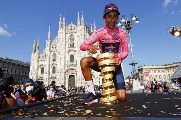 "Tour d'Italie - Egan Bernal avoue avoir eu ""beaucoup de doutes"""