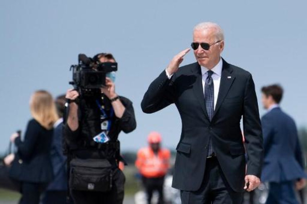 Le président Joe Biden s'est envolé pour Genève