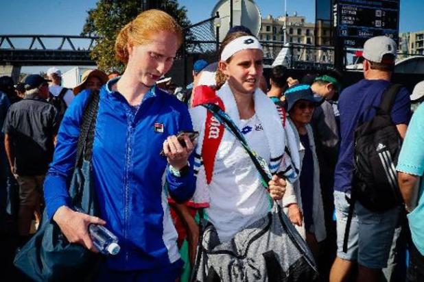 En double, Minnen et Van Uytvanck battues au premier tour de l'Open d'Australie