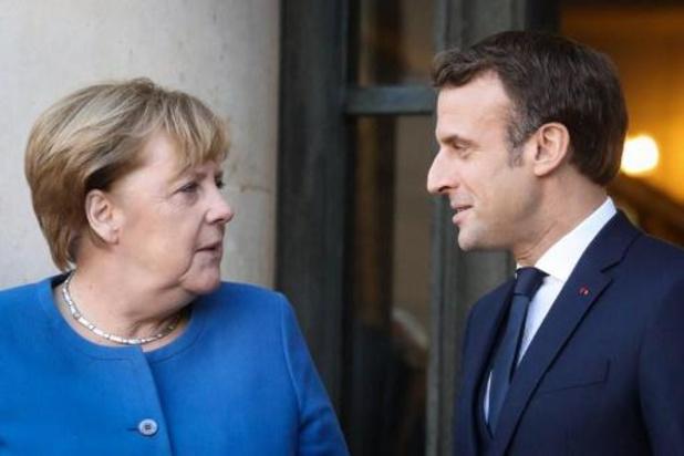Macron ontvangt Poetin, Zelenski en Merkel in kader van Oekraïne-top