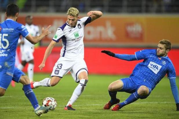Jupiler Pro League - Nouveau partage entre Anderlecht et La Gantoise (1-1) en ouverture de la 25e journée