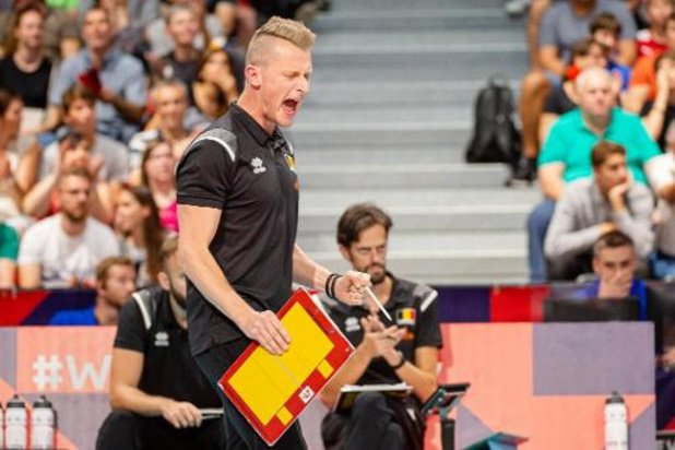 """EK volley (m) - Bondscoach na zege tegen Duitsland: """"Riem mag er nu zeker niet af"""""""