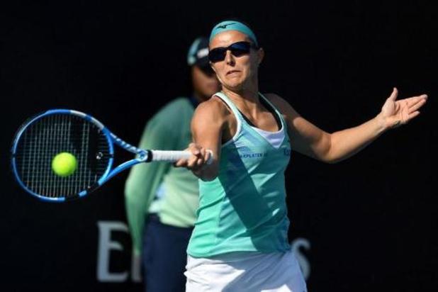 Kirsten Flipkens komt net tekort in eerste ronde Australian Open