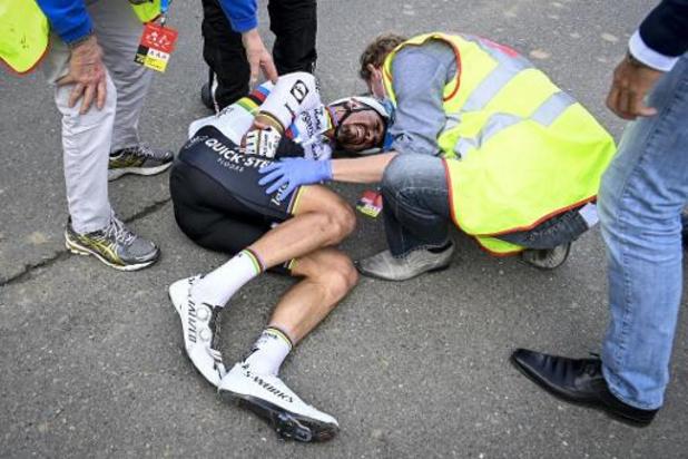 """Tour des Flandres - Patrick Lefevere furieux après la chute d'Alaphilippe: """"La moto n'avait rien à faire là"""""""