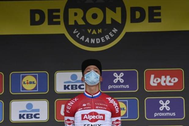 """Tour des Flandres: Mathieu van der Poel après sa première victoire d'un Monument: """"Je n'ai pas les mots"""""""