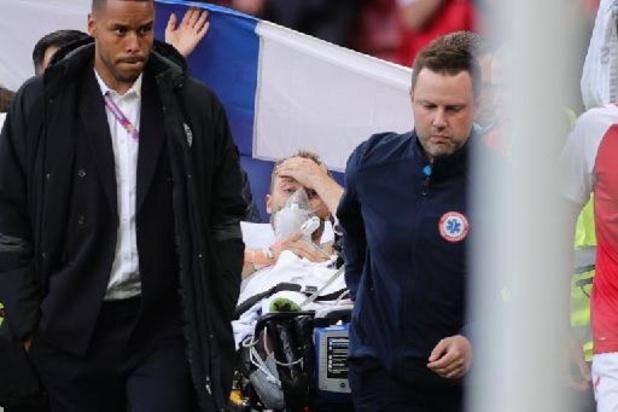 """Eriksen vanuit ziekenhuisbed: """"Ik voel me goed, gezien de omstandigheden"""""""