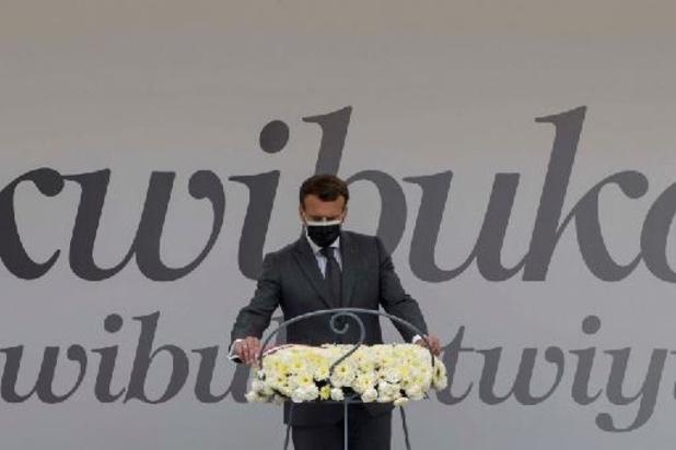"""Macron erkent """"verantwoordelijkheid"""" in de Rwandese genocide van 1994"""