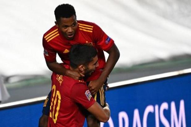 UEFA Nations League - Spanje dendert over Oekraïne, Zwitserland houdt Duitsland in bedwang