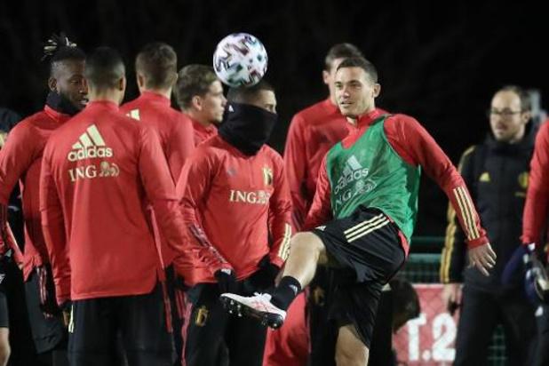 Lukaku et Trossard absents à l'entraînement de jeudi