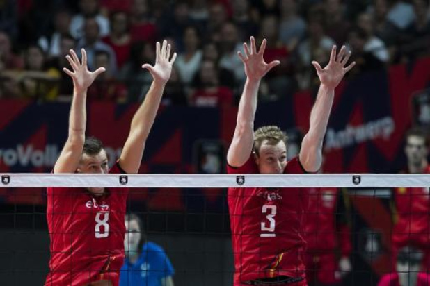 Euro de volley (m) - Déception pour la Belgique, éliminée en huitièmes face à l'Ukraine