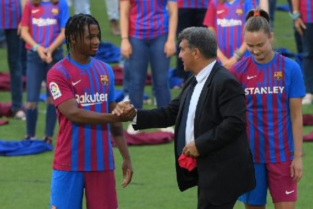 La Liga: Ansu Fati (Barcelone) reprend l'entraînement collectif après neuf mois