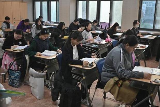 Ingangsexamens universiteiten Zuid-Korea: openbaar leven in Zuid-Korea ligt even stil