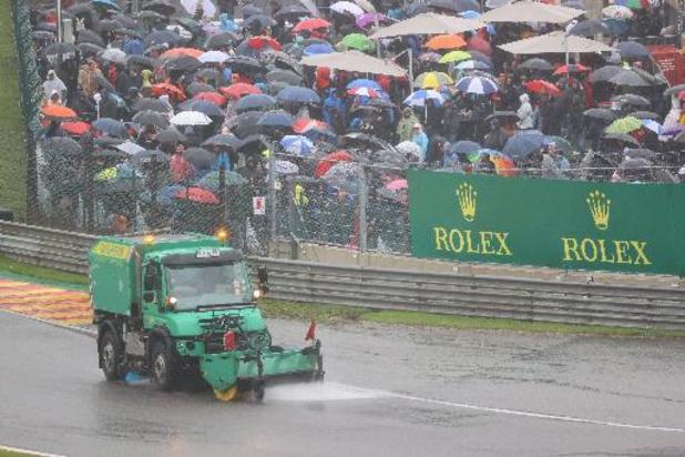 F1 - GP van België - Grand Prix start om 18u17