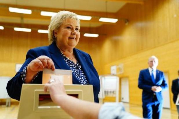 Conservatieve Noorse premier erkent nederlaag bij parlementsverkiezingen