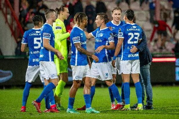 Jupiler Pro League - Genk s'impose 1-2 en déplacement à Courtrai et donne la première place à l'Union