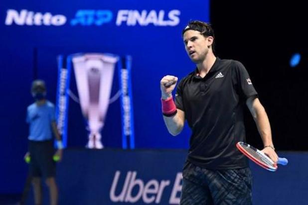 ATP Finals - Thiem rekent na uitputtingsslag af met Djokovic en plaatst zich voor finale