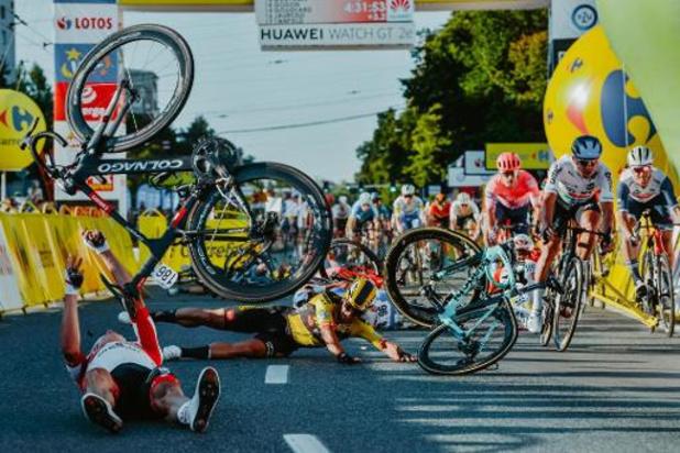 Ronde van Polen - Sprintaankomst van ongeluk Jakobsen niet meer in Ronde van Polen