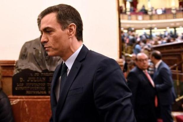 Pedro Sánchez verliest eerste vertrouwensstemming
