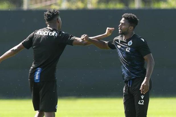 Premier entraînement sur le terrain en vue de la nouvelle saison pour le Club Bruges