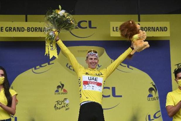 """Tour de France - """"Je n'ai pas tué le Tour"""", insiste Tadej Pogacar après avoir pris le maillot jaune"""
