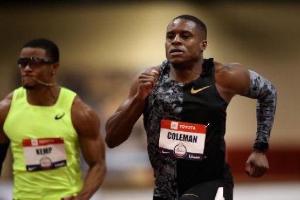 Christian Coleman krijgt strafvermindering maar blijft geschorst voor Spelen