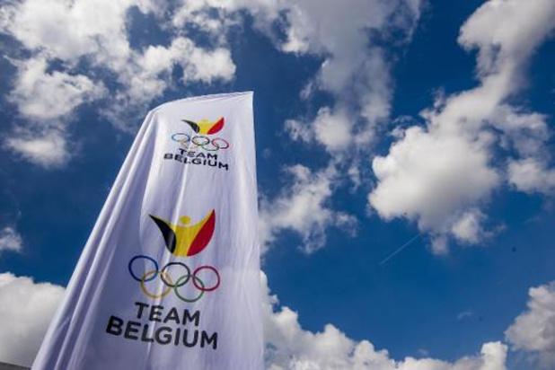 Manneken Pis draagt pakje Team Belgium