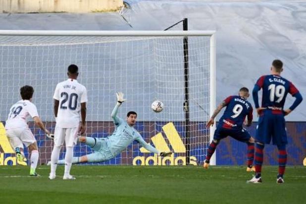 Courtois pas abattu après la défaite du Real Madrid contre Levante
