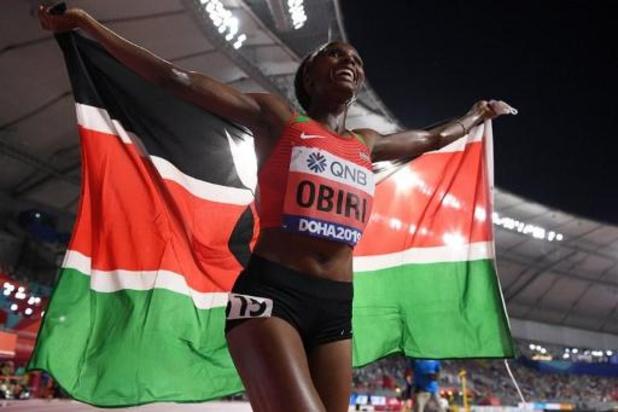 WK atletiek - Keniaanse Hellen Obiri verlengt wereldtitel op 5.000m