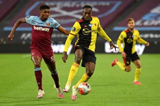Les Belges à l'étranger - Watford, avec Kabasele, s'incline à West Ham et reste menacé par la relégation