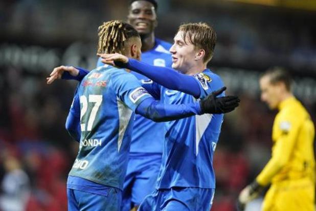 Jupiler Pro League - Genk profite de son succès à Zulte Waregem pour intégrer le top 6