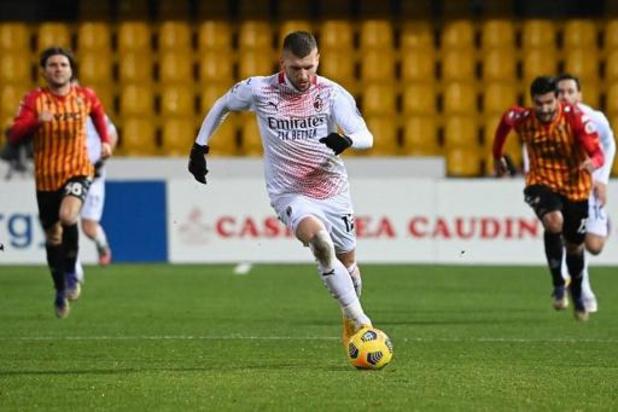 Deux cas de Covid à l'AC Milan, toujours privé de Saelemaekers