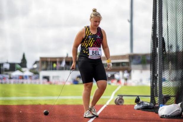 Vanessa Sterckendries égale son record de Belgique du lancer du marteau