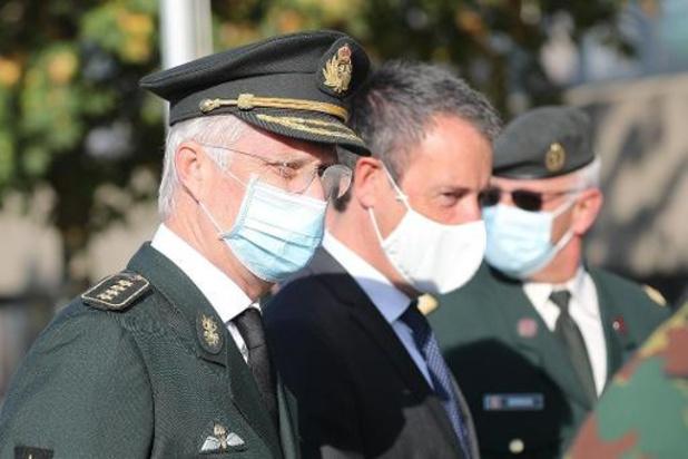 Le Roi à la rencontre de la composante médicale en exercice à Marche-en-Famenne
