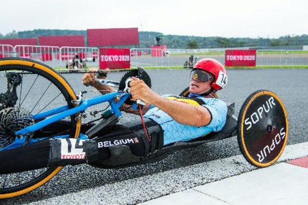 Jeux Paralympiques - Le handbike Jonas Van de Steene 4e de la course en ligne