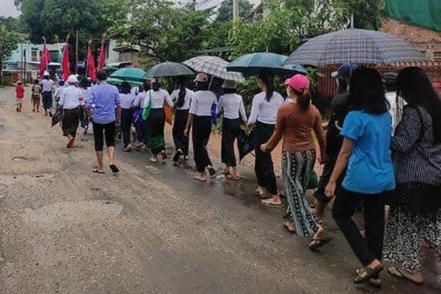 In oosten van Myanmar zijn 100.000 mensen op de vlucht