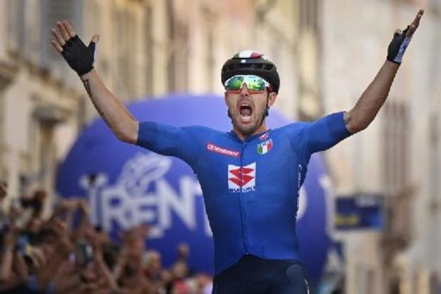 Le champion d'Europe Sonny Colbrelli chef de file de l'Italie dans l'épreuve en ligne des Championnats du monde de cyclisme