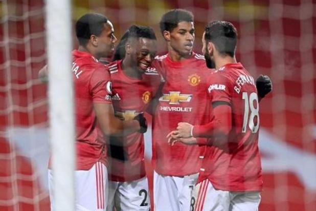 Premier League - Zege tegen Aston Villa brengt Manchester United op gelijke punten met koploper Liverpool