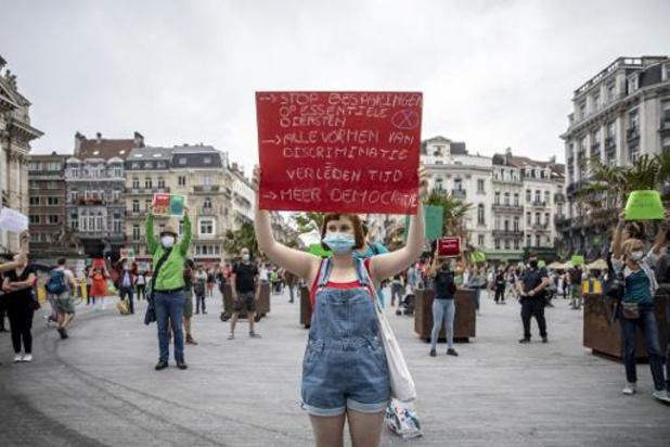 Extinction Rebellion: Eerste 'Freeze'-protestactie aan Beurs verloopt rustig