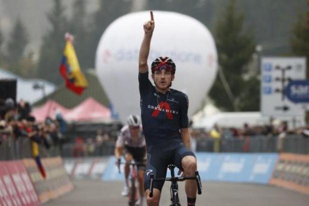 Tao Geoghegan Hart wint vijftiende rit, Joao Almeida behoudt nipt roze