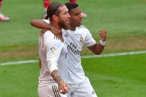 Ramos verlost Real nu ook bij Athletic Bilbao, titel komt dichterbij
