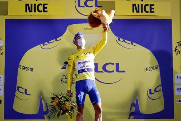 Tour de France - Dries Devenyns a vu la victoire d'Alaphilippe sur le smartphone d'un supporter