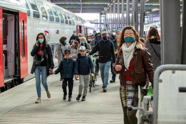 Situation maîtrisée dans les trains ce week-end avec moins de monde dimanche que samedi
